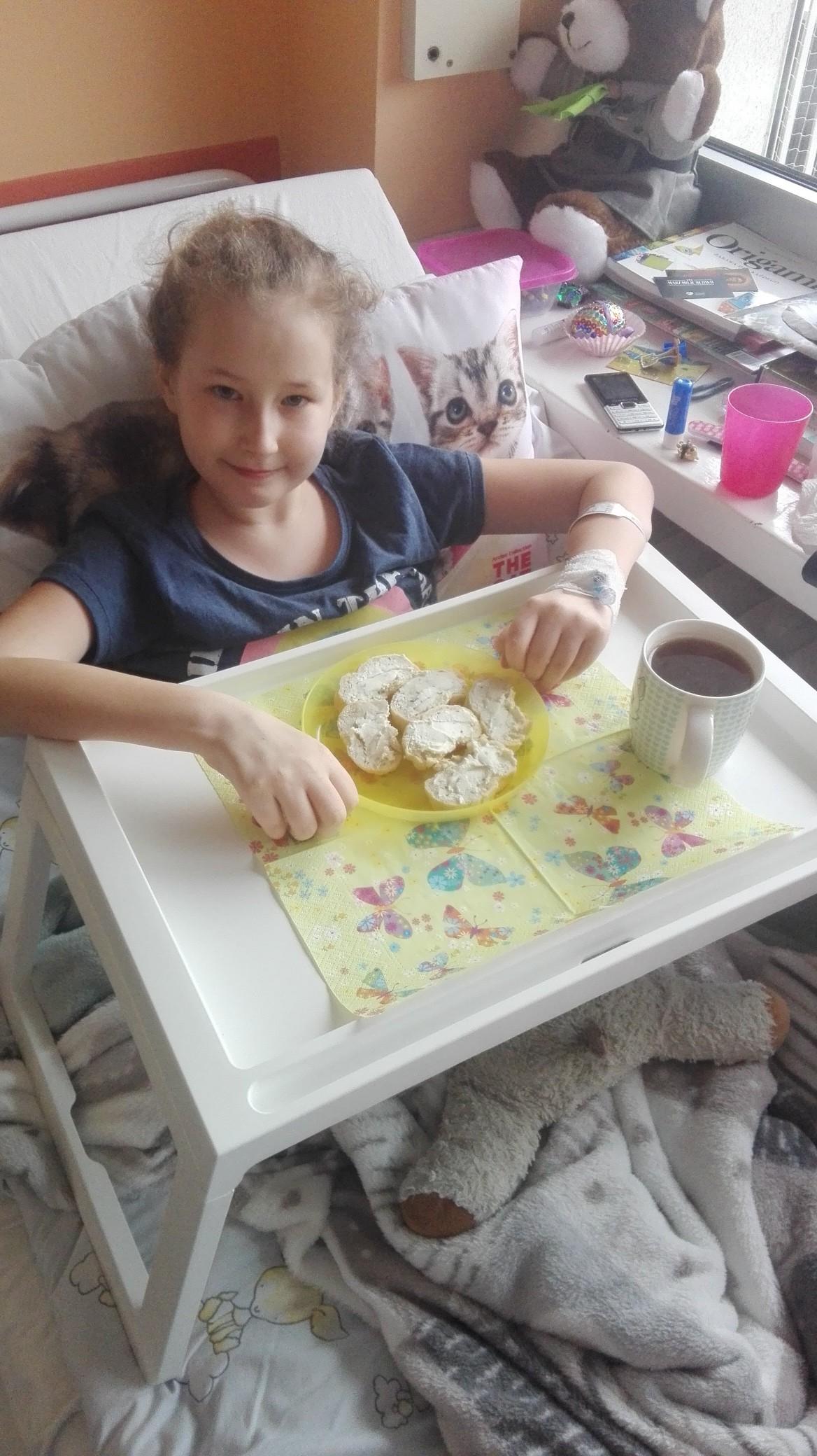 Młoda Iga walczy z białaczką