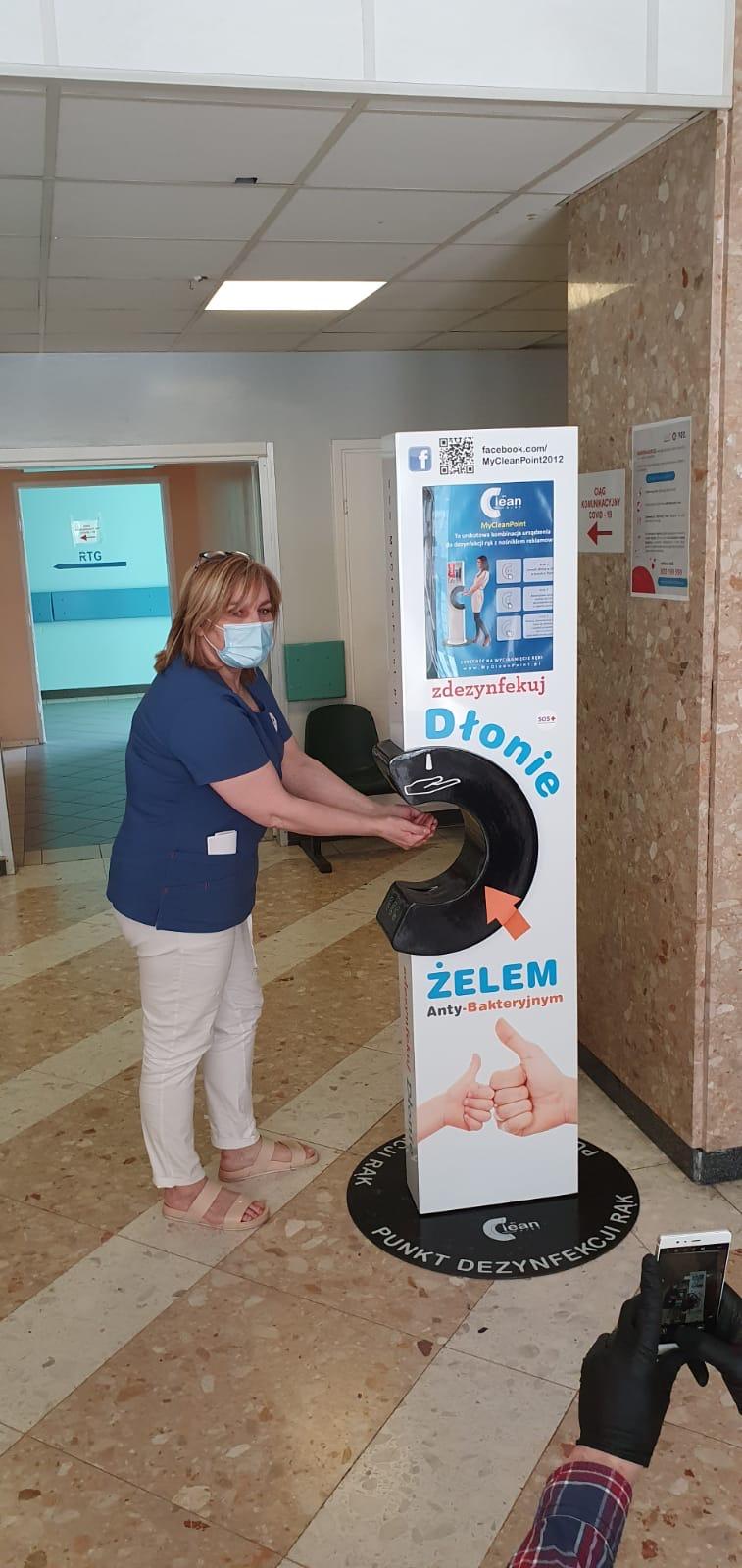 Urządzenia do dezynfekcji pacjentów szpitali